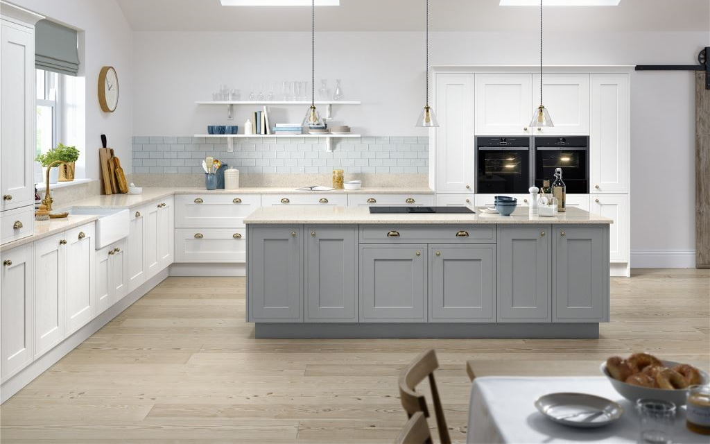 Shaker Handleless kitchens from Mayflower Kitchens